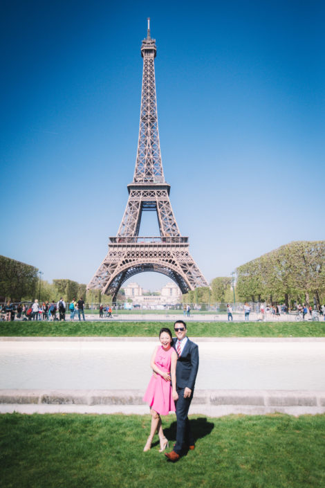 Photo de couple Paris Tour Eiffel