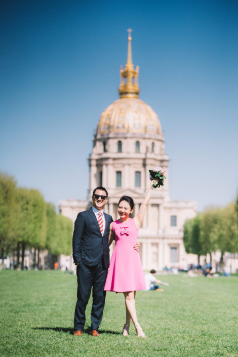 Photographe Paris couple Invalides