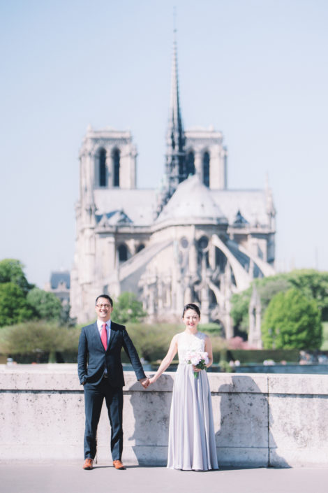 Photo de couple Notre Dame de Paris